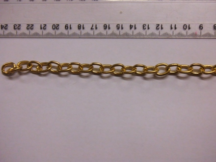 Thick Oval Link - Gold Colour Chain