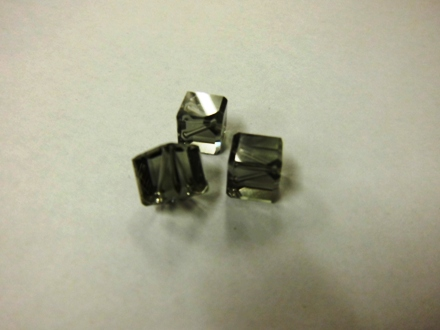 Swarovski Crystal Diagonal Cubes - Black Diamond