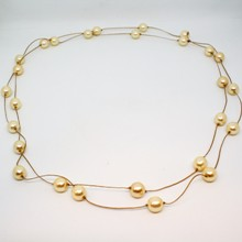 Long Knotted Pearl Necklace - Cream