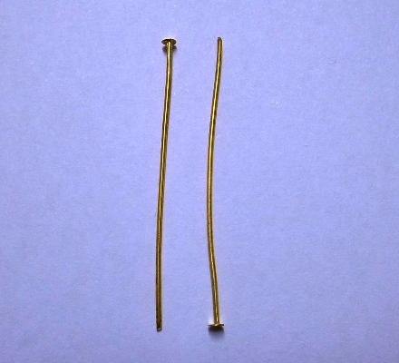 Head Pins, Gold Colour