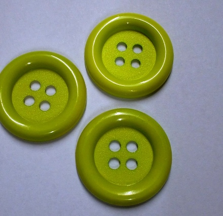 Jumbo Lime Green Button