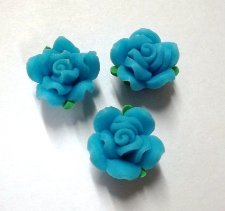 Fimo Flower Small Blue