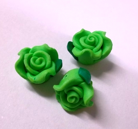 Fimo Flower Small Lime Green