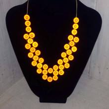Woven Miracle Bead Necklace - Orange