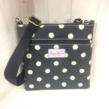 pouch Bag - Black with Large Cream Spots
