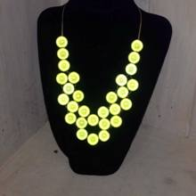 Woven Miracle Bead Necklace - Yellow