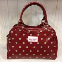 Small Tote - Burgundy Spots
