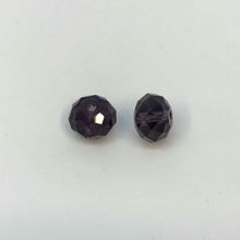 Chinese Crystal Faceted Donut - Amethyst