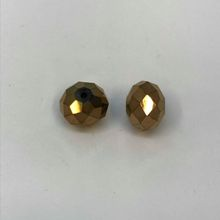 Chinese Crystal Faceted Donut - Crystal Brown
