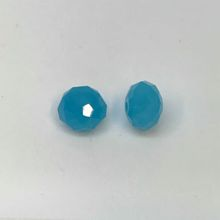 Chinese Crystal Faceted Donut - Sky Blue