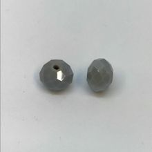 Chinese Crystal Faceted Donut - Grey AB