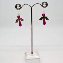 Angel Earrings - Pink