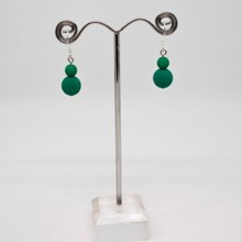 2 Drop Earrings - Neon Petrol