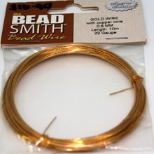 Bead Smith Bead Wire - Gold