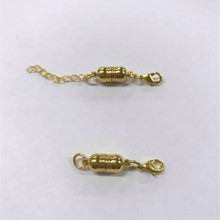 Magnetic Clasp - Interchangeable - Ribbed Gold