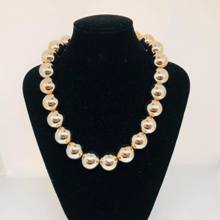 MOP Bead Necklace - Gold