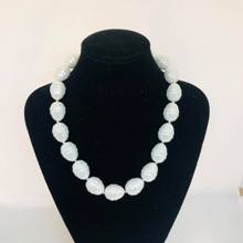 Shell Based Pearl Necklace - White