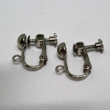Clip on Earrings - Silver