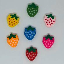 Wooden Strawberry Bead Pack - Mixed Colours