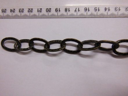 Thick Antique Black Oval Link