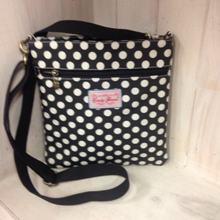 Pouch Bag - Black with Small White Spots