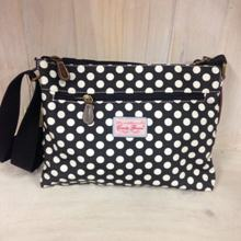 Tourist Bag - Black with Small White Spots